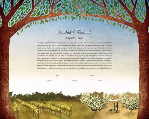 California Vineyard Ketubah