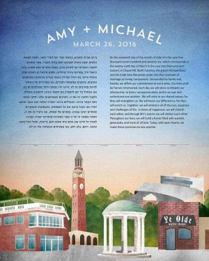 Chapel Hill, NC Ketubah