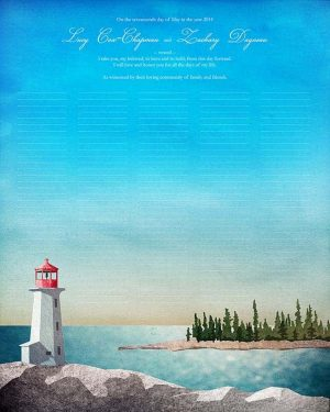 Maine Lighthouse Ketubah