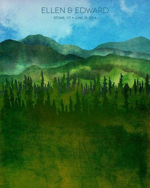 Green Mountains, Vermont Ketubah