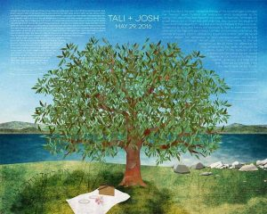 Engagement Tree Ketubah