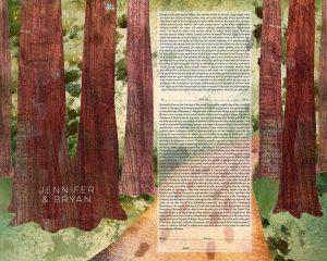 Redwoods Ketubah