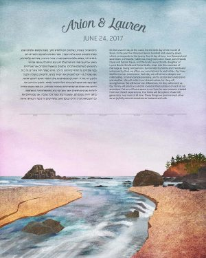 California Beach Ketubah