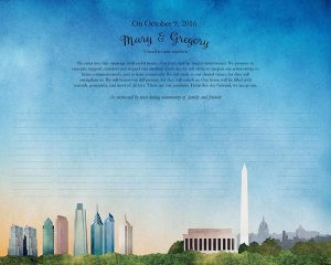 Philadelphia to Washington, DC Ketubah