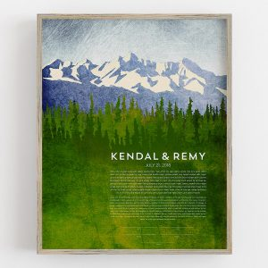 Rainy Mountain Ketubah Pacific Northwest Mountains Forest Rain