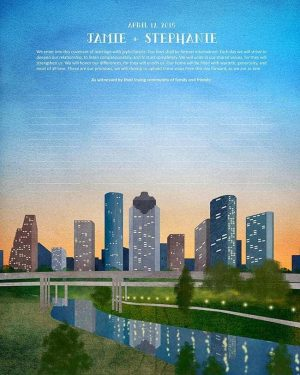 Houston Bayou Ketubah