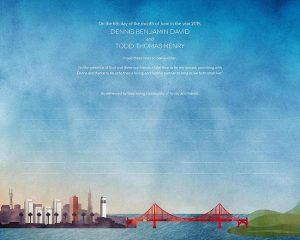 San Francisco, CA Ketubah