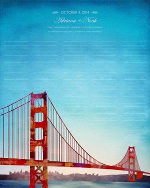 San Francisco wedding certificate california skyline cityscape quaker marriage certificate