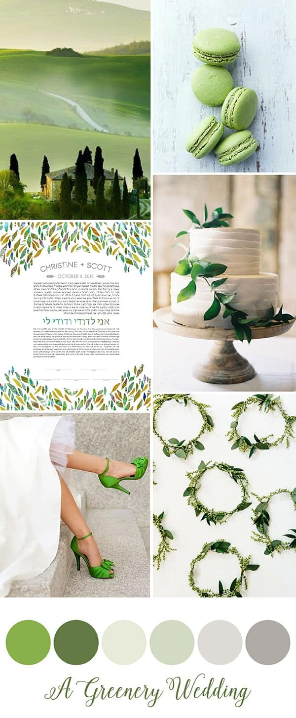 Pantone Greenery Wedding