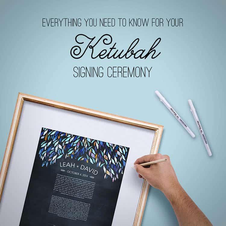 Ketubah signing ceremony