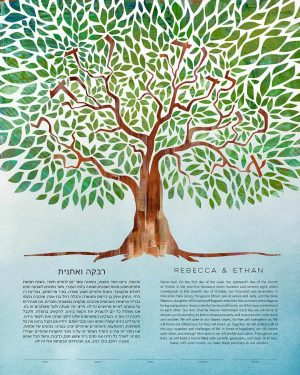 Tree of Life - I Am My Beloved's Ketubah Hidden Message Ani L'Dodi V'Dodi Li