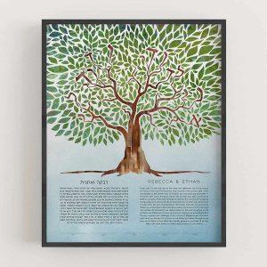 Tree of Life - I Am My Beloved's Ketubah Hidden Message Ani L'Dodi V'Dodi Li