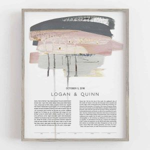 Paint Burst Blush ketubah