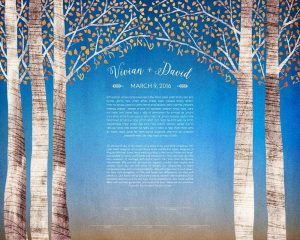 Birch Tree Ketubah - Autumn