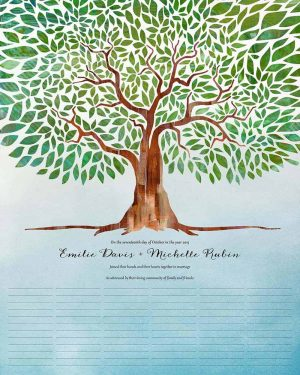 Tree of Life - I am my beloved's - wedding certificate