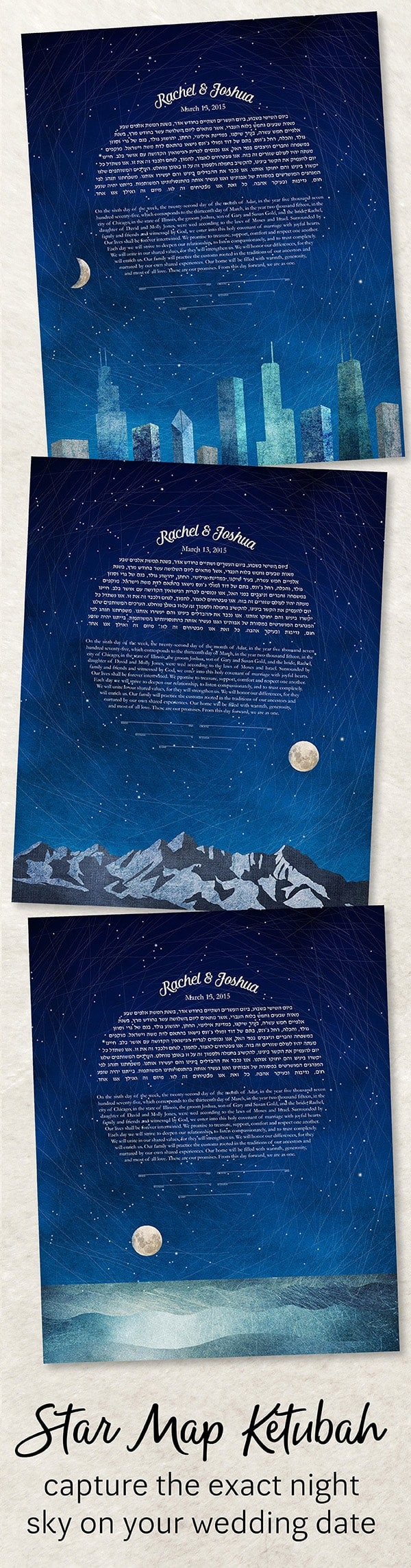 Star Map Ketubah