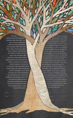 INTERTWINED TREES enchant KETUBAH jewish wedding contemporary judaica
