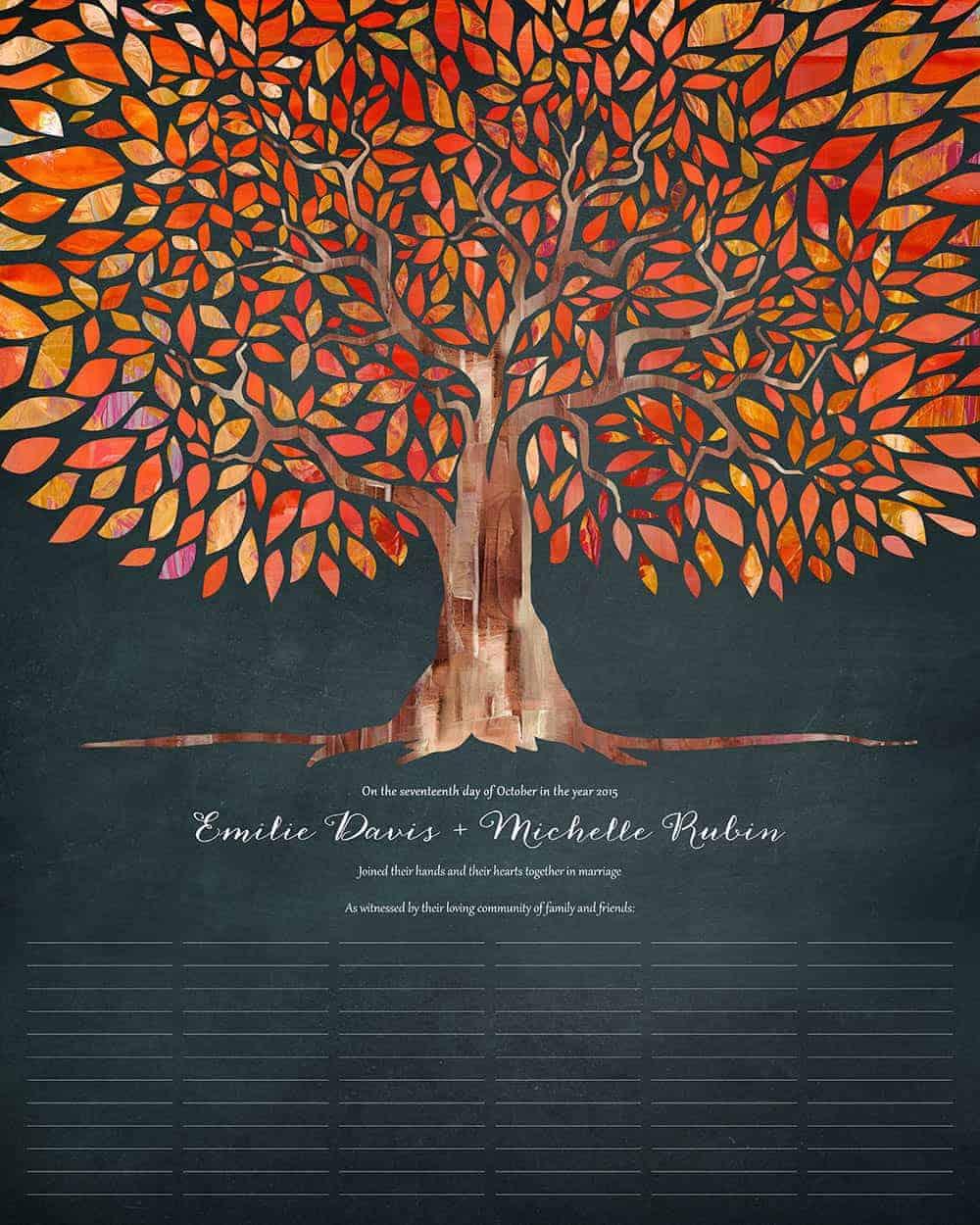 Tree Of Life I Am My Beloveds Autumn Dusk Wedding