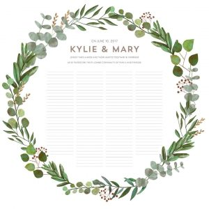 Good Earth Circle Botanical Wedding Certificate greenery illustration modern