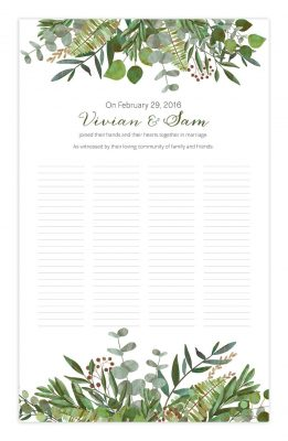 Good Earth Botanical Wedding Certificate