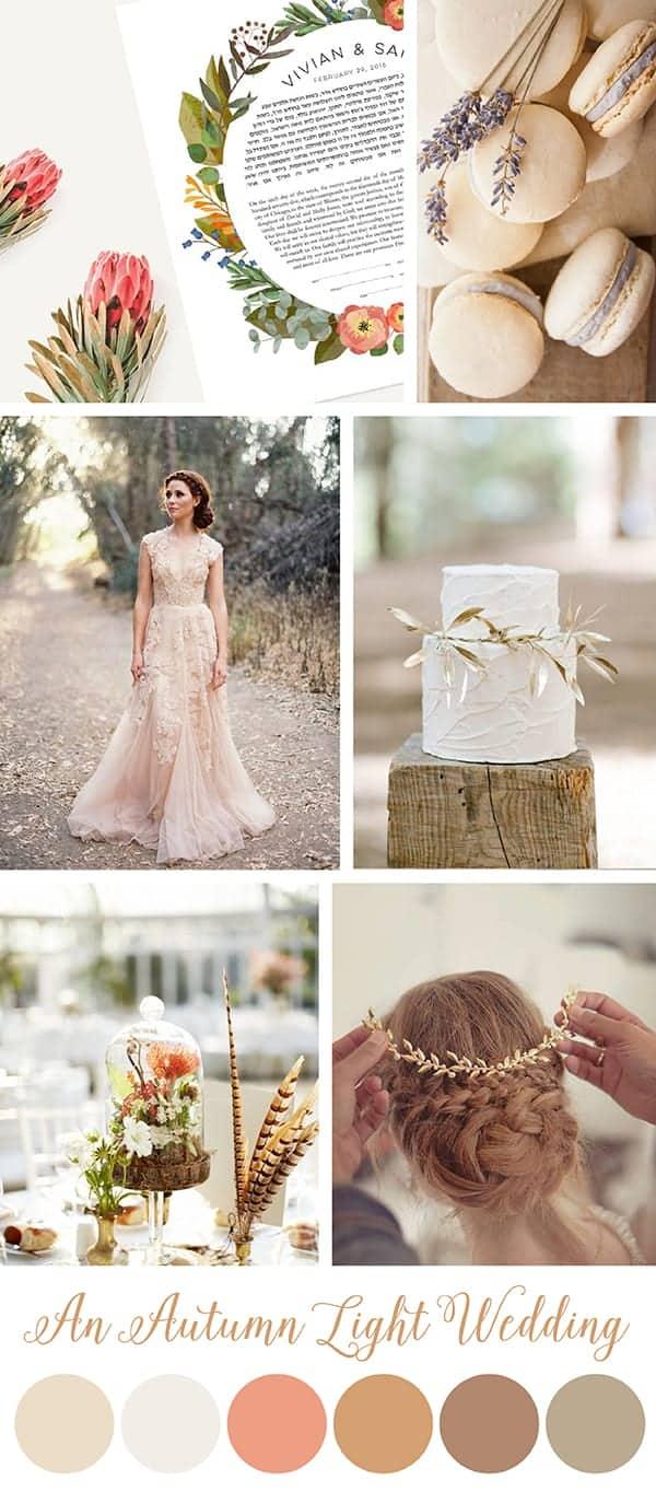 Autumn Light Wedding Inspiration Board