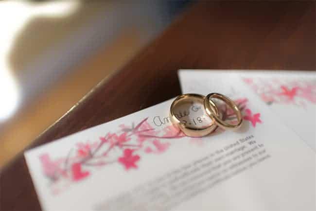 Cherry Blossom Wedding Certificate