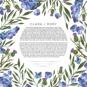 Eucalyptus, Thistle and Hydrangea Ketubah