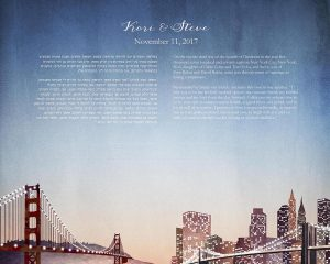 San Francisco and New York City Ketubah