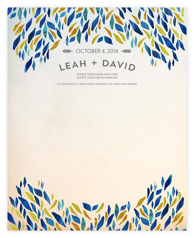 Abstract Wedding Certificates