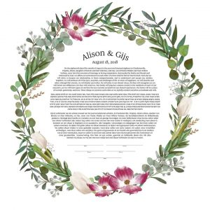 Dogwoods and Tulips Ketubah