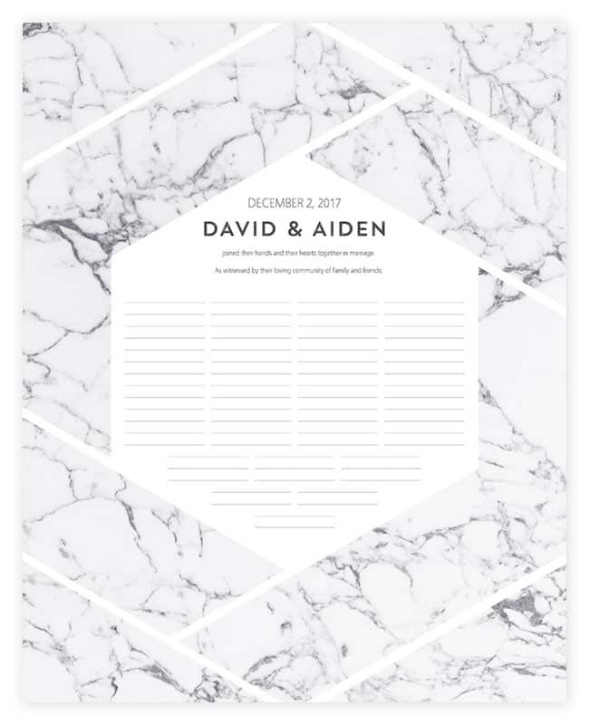 Geometric Wedding Certificates