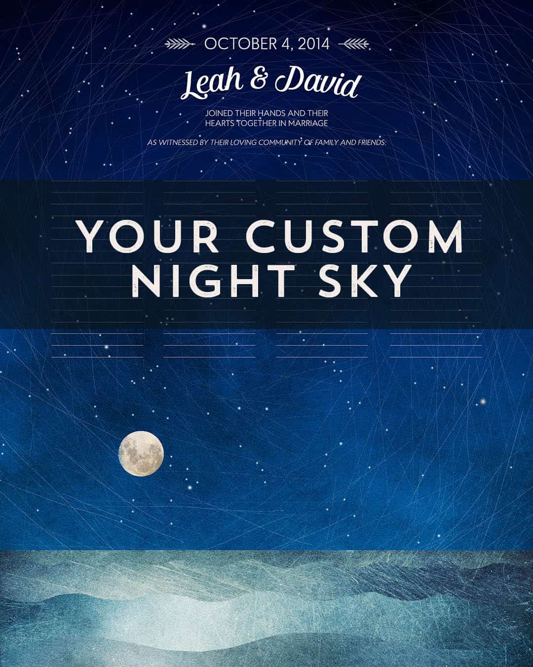 Star Map Wedding Certificate (Your Custom Sky) Map Of The Sky Poster on star map poster, constellation map poster, michigan lighthouse map poster,