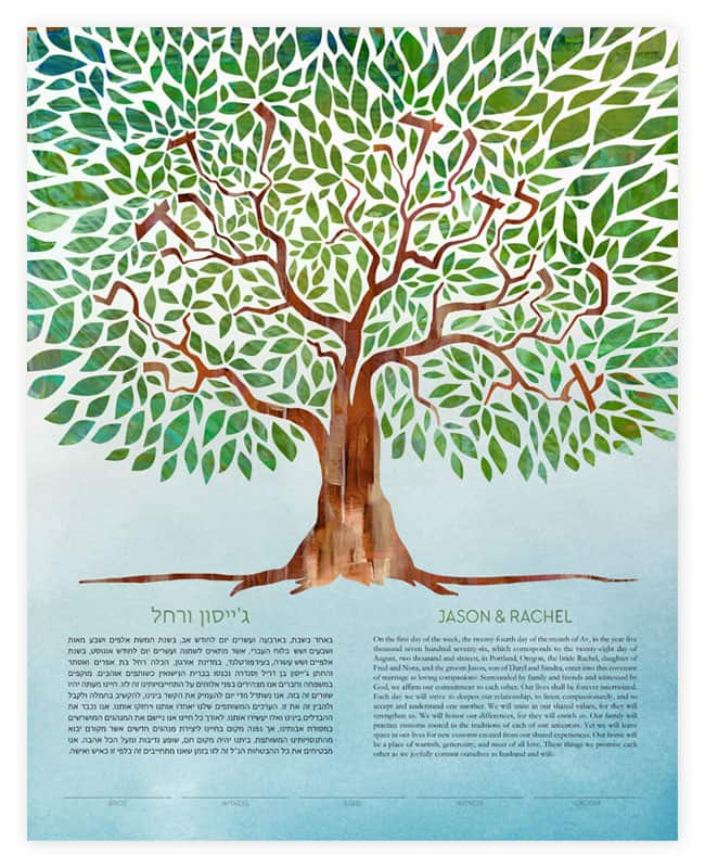 Tree of Life Ketubahs