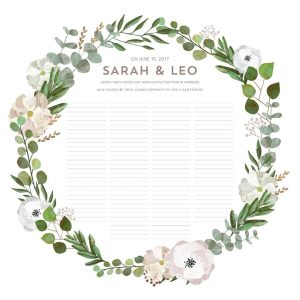 Good Earth Blush Botanical Wedding Certificate Quaker Marriage Certificate Botanical Illustration Wedding Greenery Floral