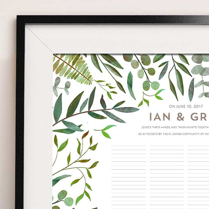 Good Earth Wild Wedding Certificate Quaker Marriage Certificate Botanical Illustration Wedding Greenery