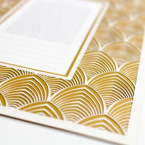 Art Deco Paper Cut Ketubah