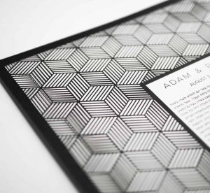 Cubed Geometric Pattern Paper Cut Ketubah Fine Art Jewish Wedding Contemporary Judaica Modern Laser Cut