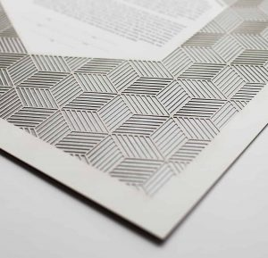 Geometric Pattern Paper Cut Ketubah Fine Art Jewish Wedding Contemporary Judaica Modern Laser Cut