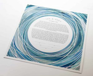 Tide Pool Paper Cut Ketubah Fine Art Jewish Wedding Contemporary Judaica Modern Laser Cut