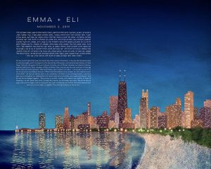 Chicago at Night Ketubah
