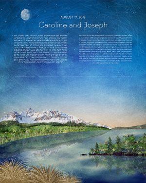 Combined Landscape Mt Wilson Sebago Lake ketubah