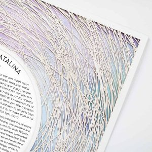 Encircled Paper Cut Ketubah Color Wash Magic