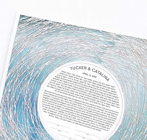 Encircled Paper Cut Ketubah Color Wash Petal
