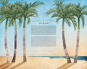 Palm Trees Ketubah
