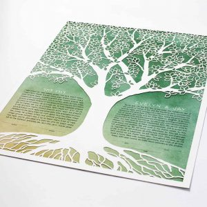 Bountiful Tree Paper Cut Ketubah