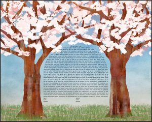 Cherry Trees Ketubah