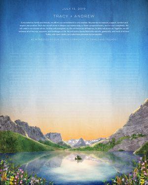 Glacier National Park Ketubah