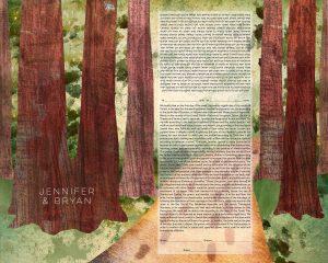 Redwoods Path Ketubah