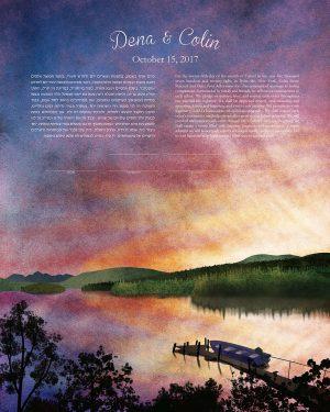 Kuthai Lake British Columbia Canada Ketubah