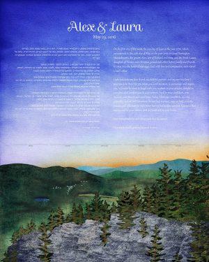 Monument Mountain Massachusetts Ketubah